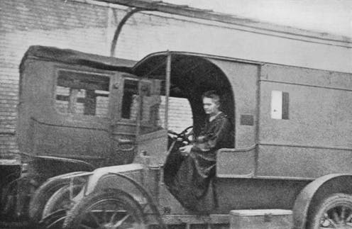Marie Curie and her X-ray vehicles' contribution to World War I