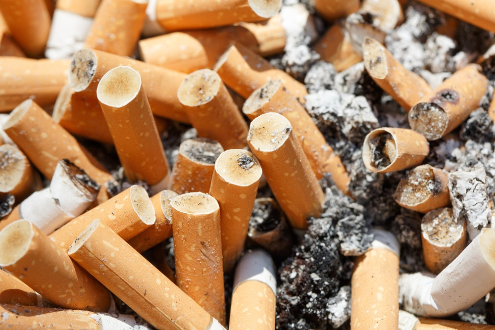 Image of cigarette butts