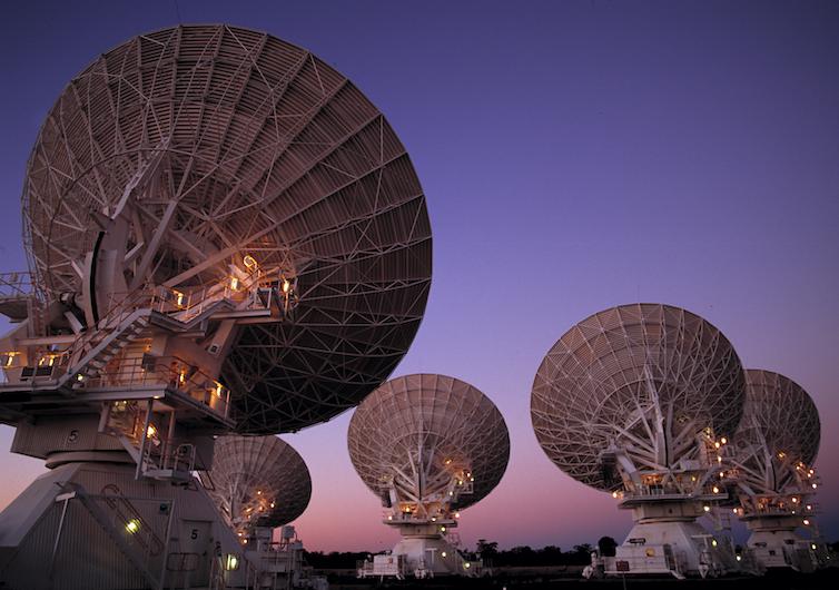 The Australia Telescope Compact Array in Narrabri, NSW.
