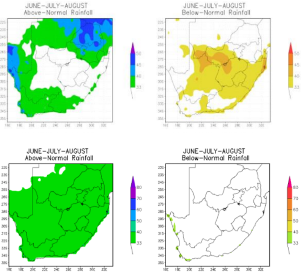 7d78981ce The forecast probability associated with above-normal and below-normal  rainfall for 2016 (upper panels) and 2017 (lower panels).