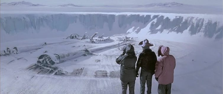 A scene from John Carpenter's The Thing from 1982