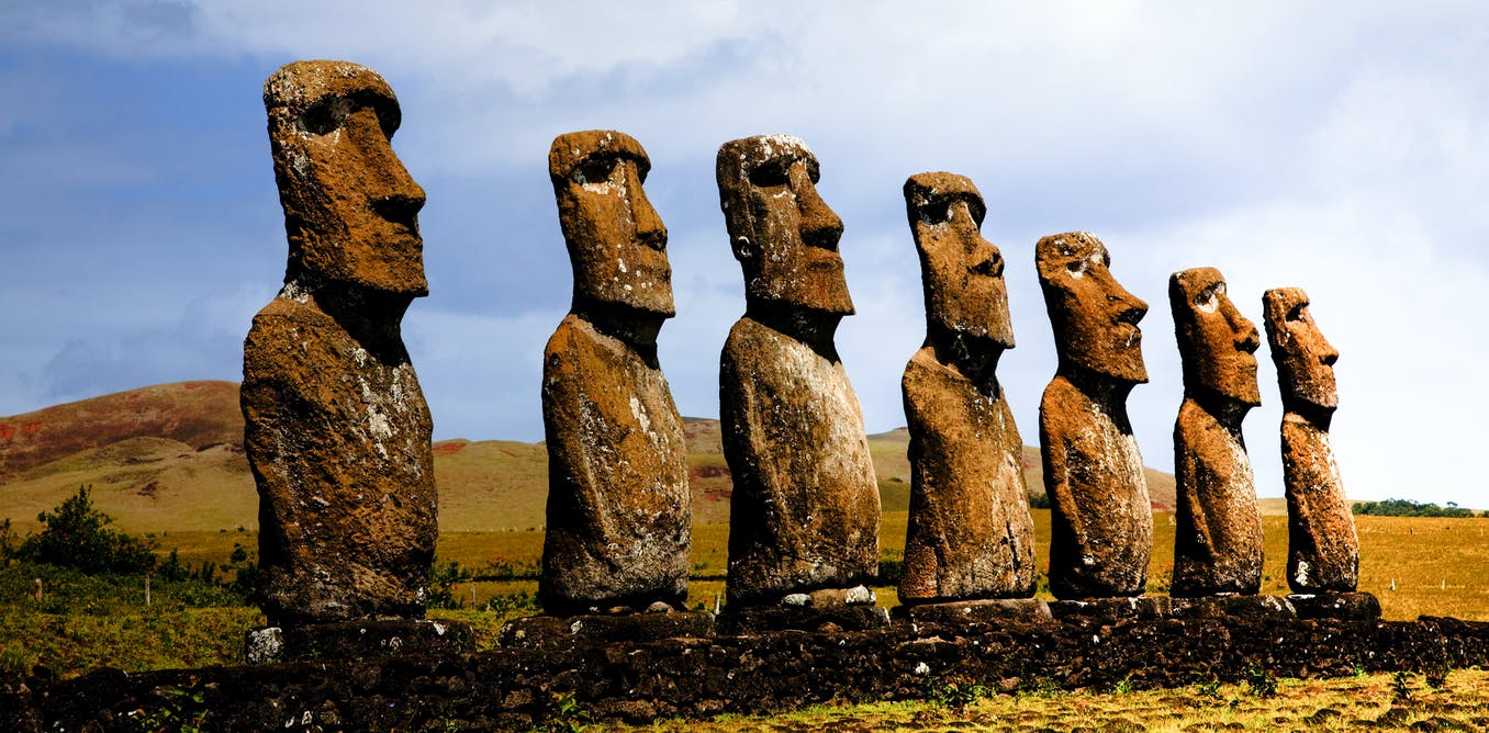 https://theconversation.com/the-truth-about-easter-island-a-sustainable-society-has-been-falsely-blamed-for-its-own-demise-85563