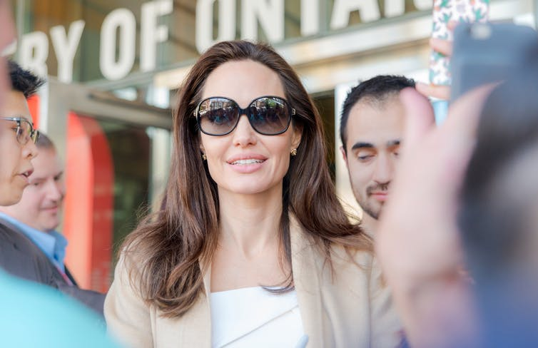 Angelina Jolie: actress and film director who also made allegations against Harvey Weinstein.