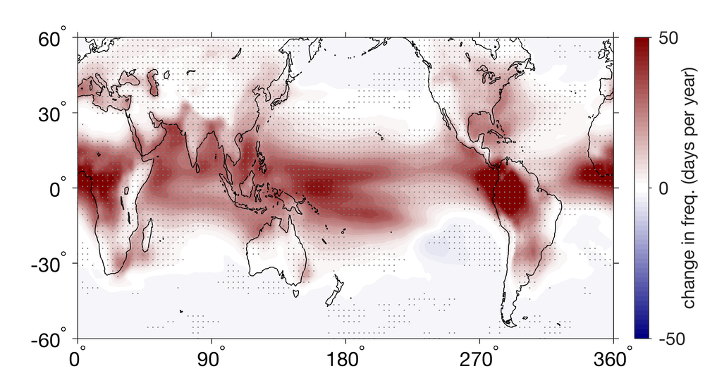 Tropical thunderstorms are set to grow stronger as the world