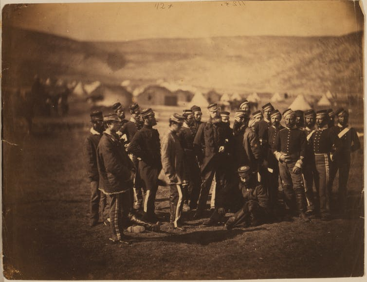 Officers and men of the 13th Light Dragoons, survivors of the Charge of the Light Brigade.Roger Fenton. Crimea War Russia (Photo)