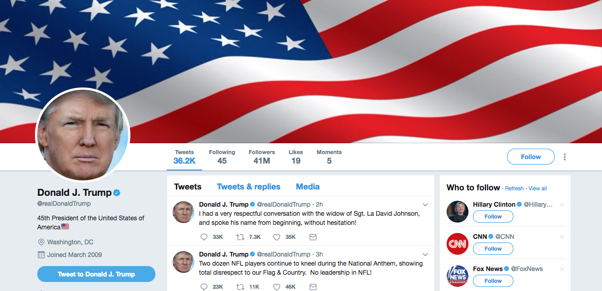 Examining The Presidentu0027s Twitter Activity. Screenshot, CC BY ND