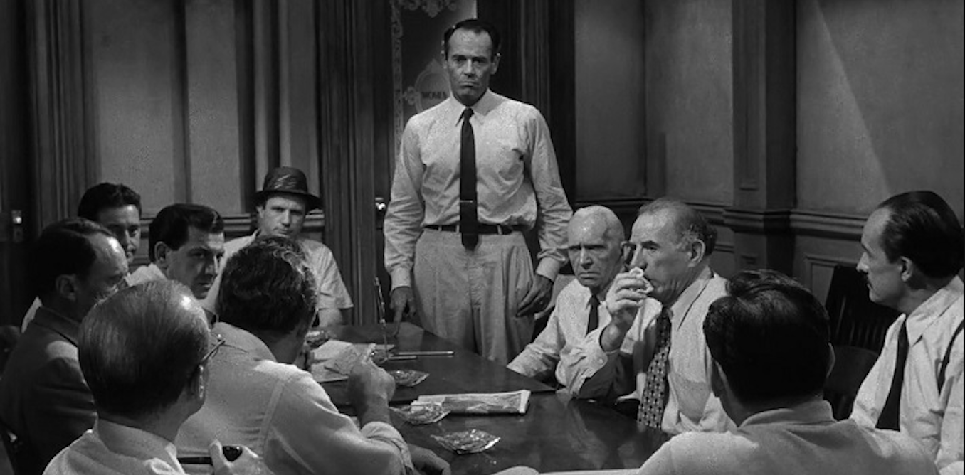 an overview of juror fives point of view fromtwelve angry men