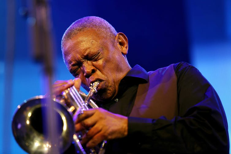 Hugh Masekela performing during the 16th Cape Town International Jazz Festival. Esa Alexander/The Times