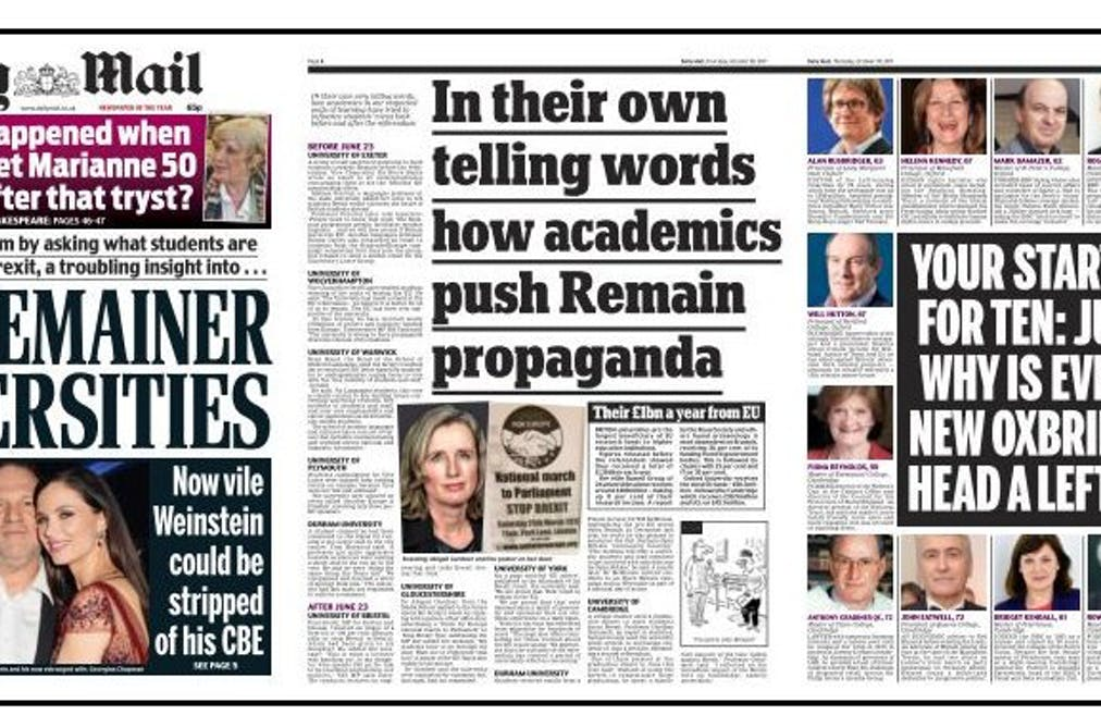Then They Came For The Experts How Daily Mail Is Threatening You Think