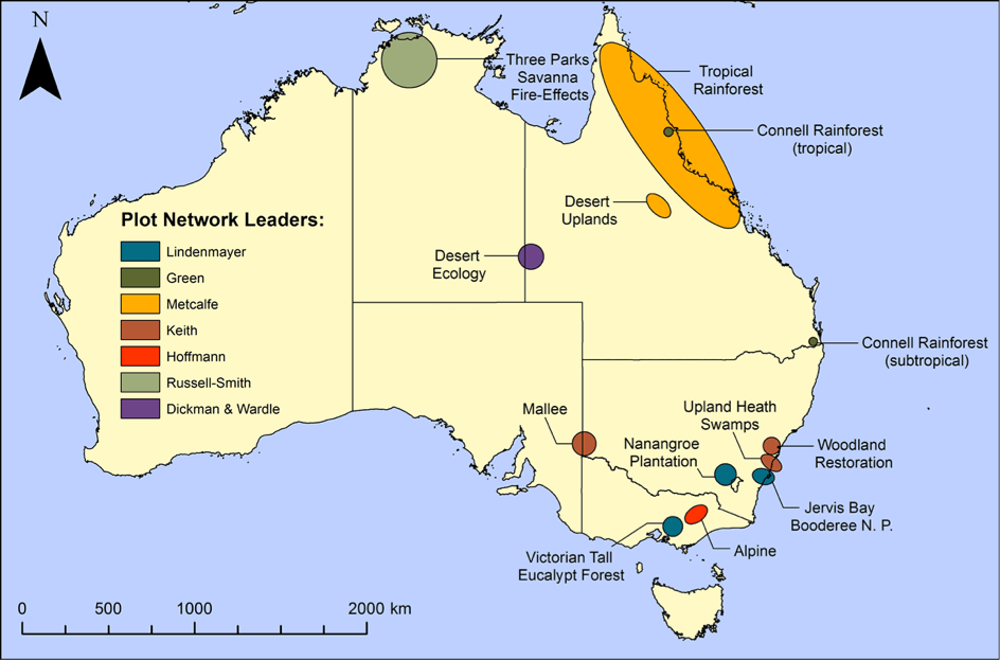 long term ecological research stations across australia
