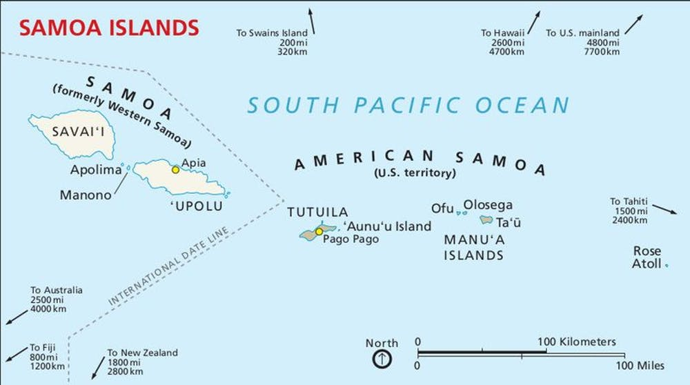 American Samoa is a U.S. territory covering seven islands in the South Pacific. Photo credit: National Park Service