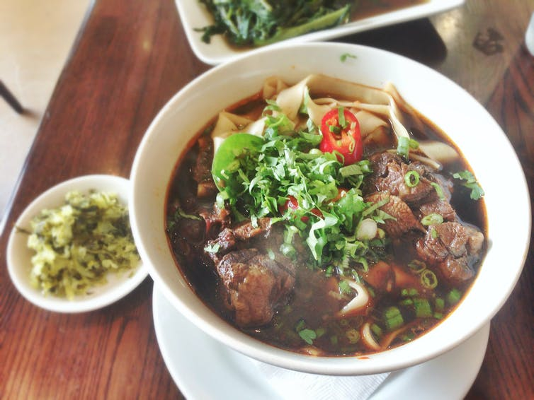 Oxtails were a popular Depression-era meat cut in the United States, but now are found more frequently in Asian cuisine; shown here, oxtail soup at a Chinese restaurant in Los Angeles. Photo credit: T.Tseng via Flickr [Licensed under CC BY 2.0]