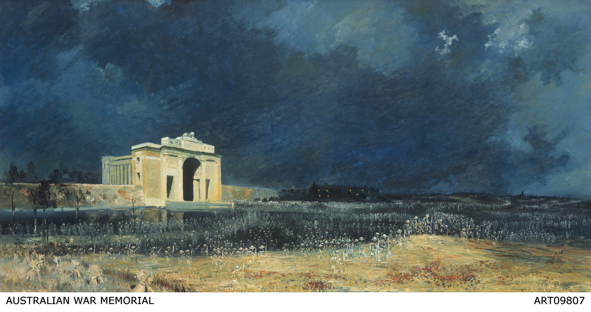Will Longstaff, 'Menin Gate at midnight', oil on canvas (1927). ART09807/Courtesy of the Australian War Memorial