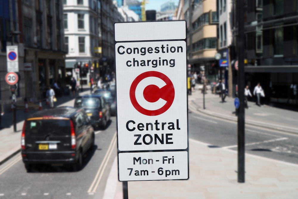 A congestion-charging zone in central London