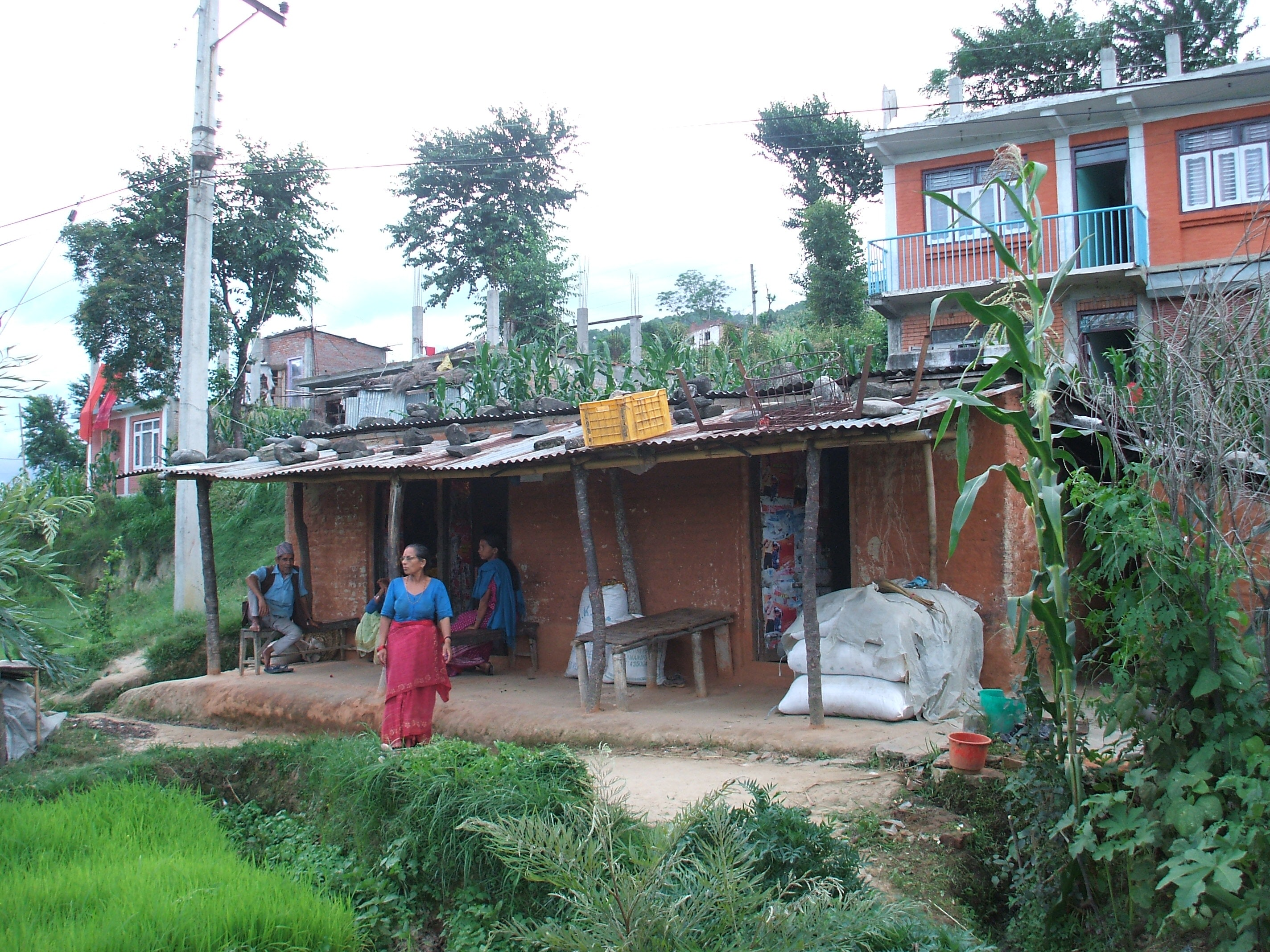 Many people live in informal homes in Nepal. Ifte Ahmed