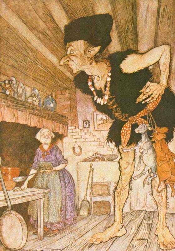 Arthur Rackham's Jack and the Beanstalk Giant.