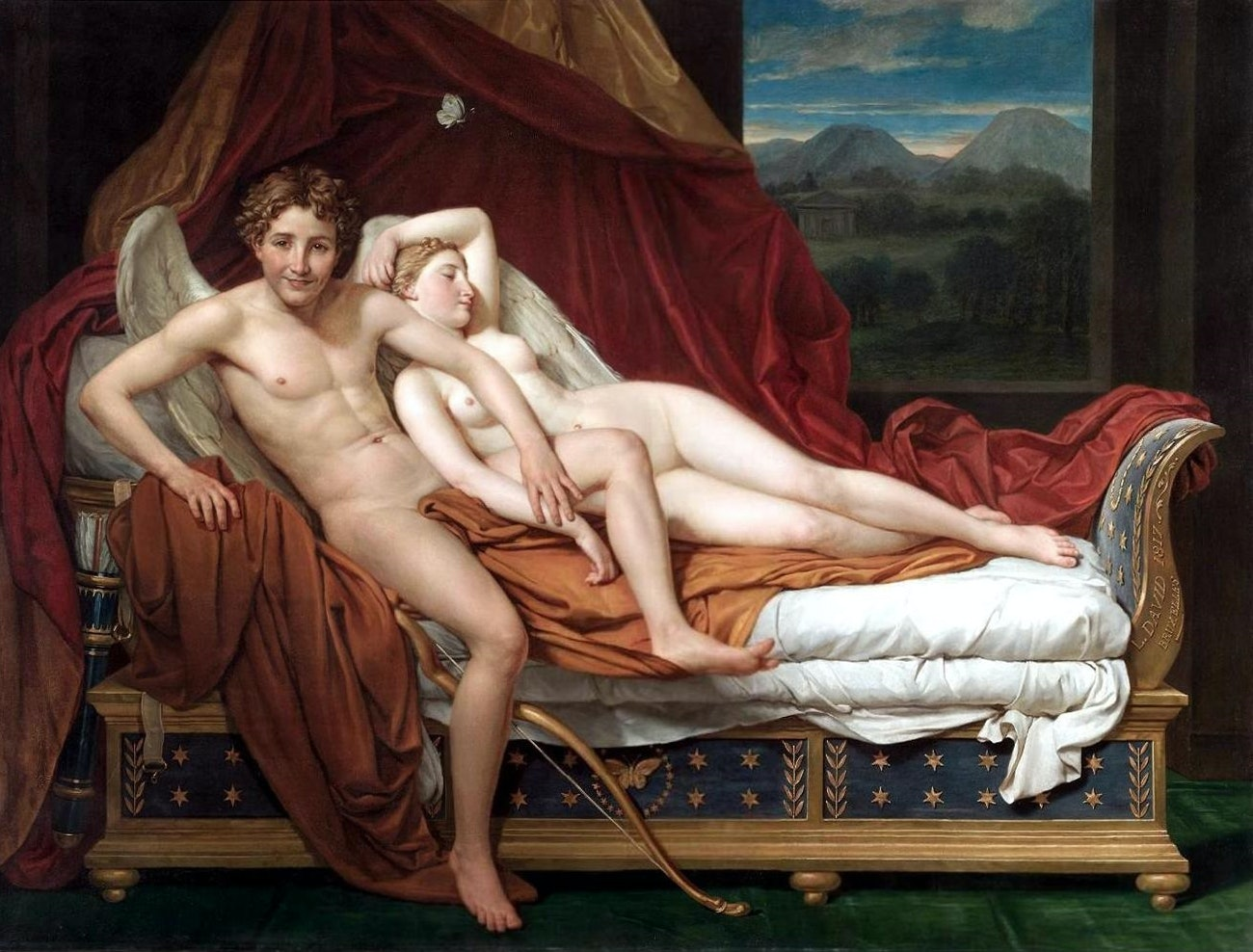 painting of Cupid and Psyche