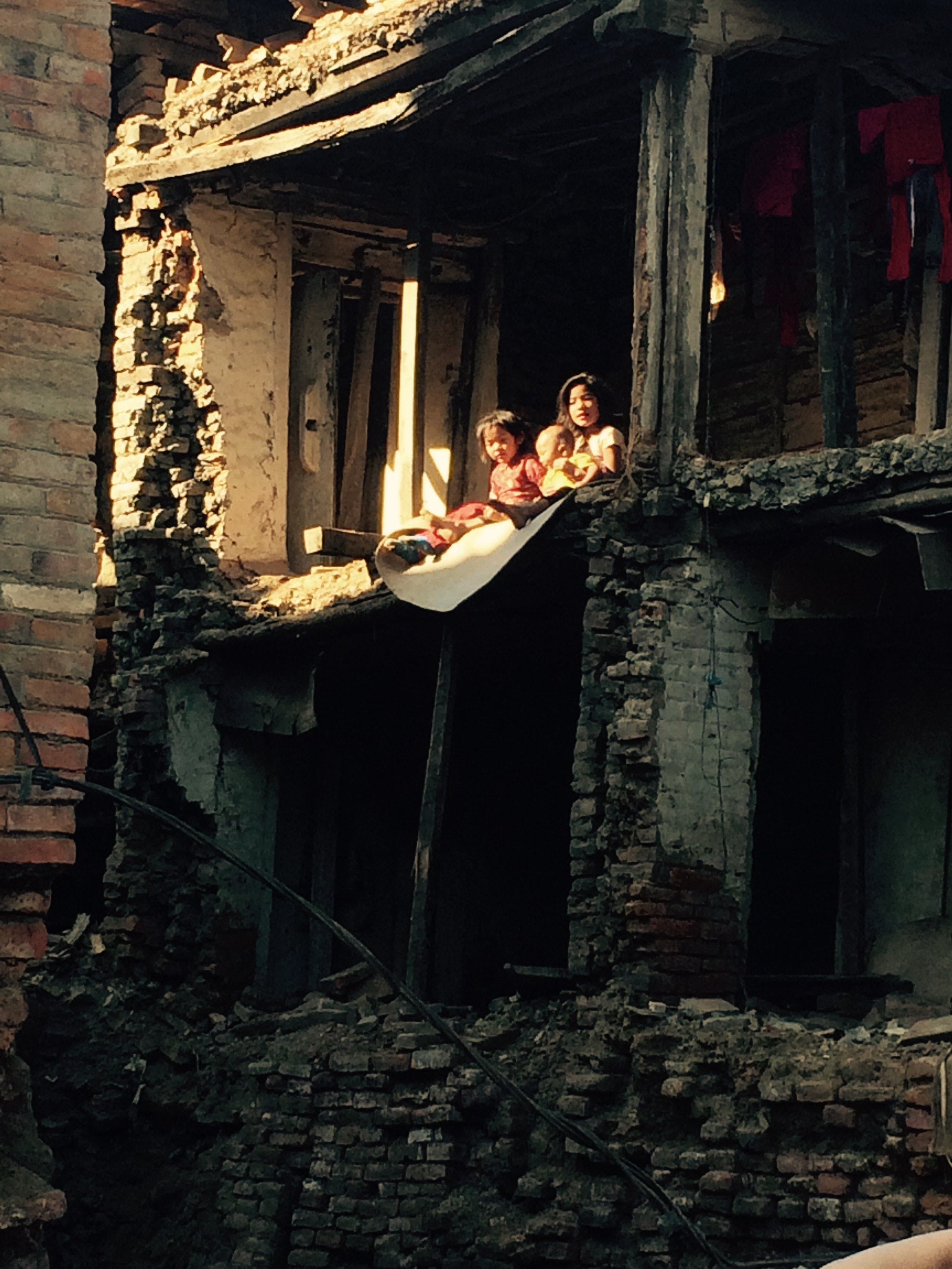Some in Nepal are forced to live in buildings that could fall down at any time. Jason von Meding