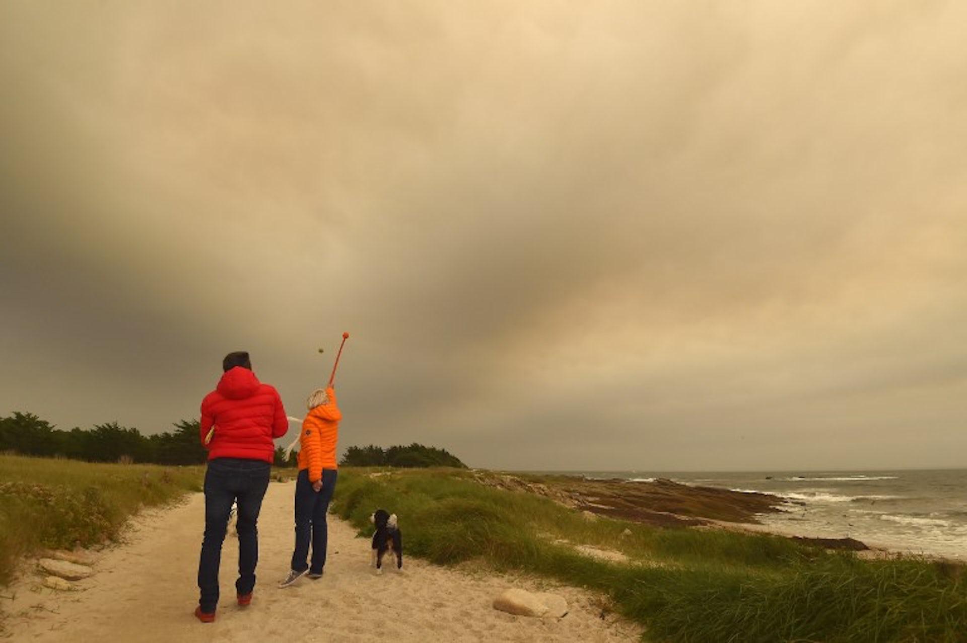 Ciel jaune et soleil rouge : l'ouragan Ophélia décrypté
