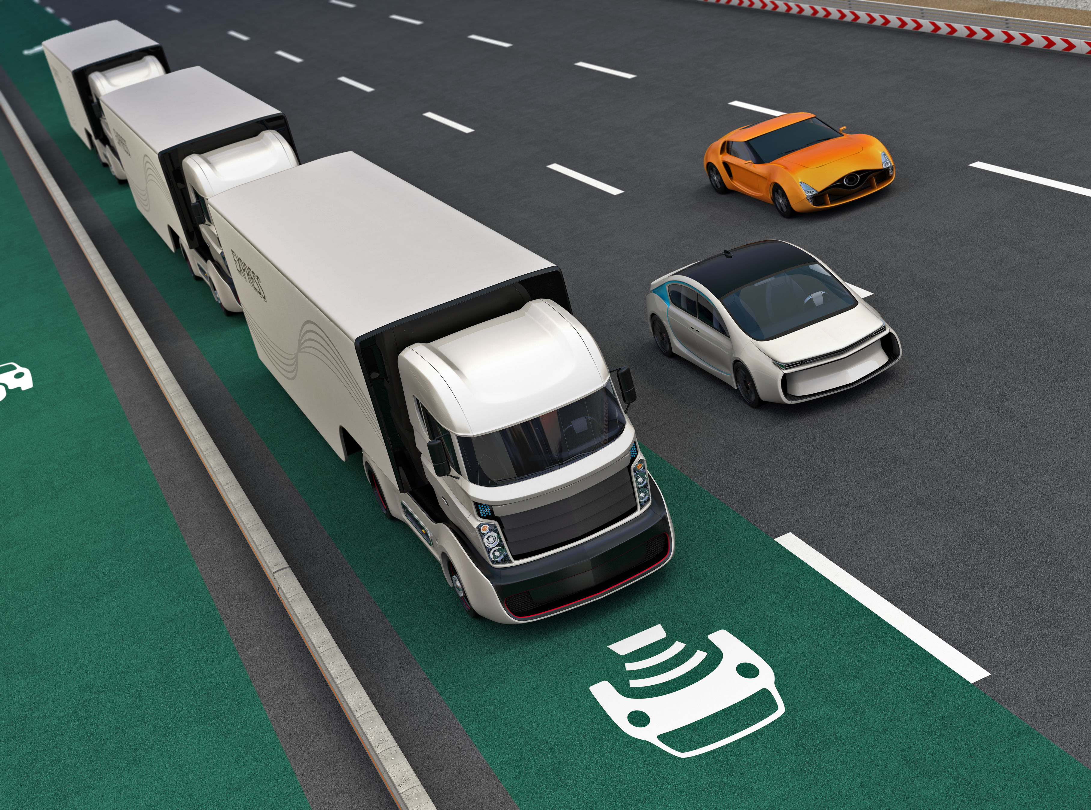 """Coming soon to a highway near you: truck platooning – """"Platooning involves a number of trucks closely following one another, connected using vehicle-to-vehicle communication… trucks can follow each other closely, leading to better fuel efficiency, perhaps up to 15%."""""""