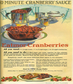 Eatmor Cranberries Thanksgiving advertising