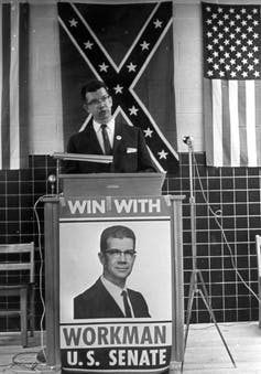 Political reporter William D. Workman's 1962 U.S. Senate campaign in South Carolina proved that 'Goldwater Republicans' could compete in the Deep South.