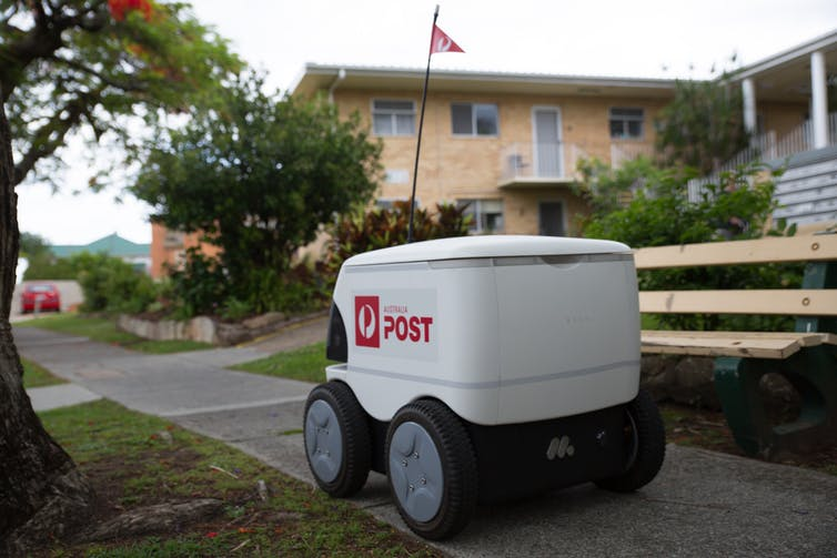 Australia Post is trialling an autonomous delivery robot.