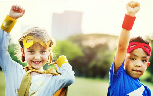 Children decide who can be a superhero.