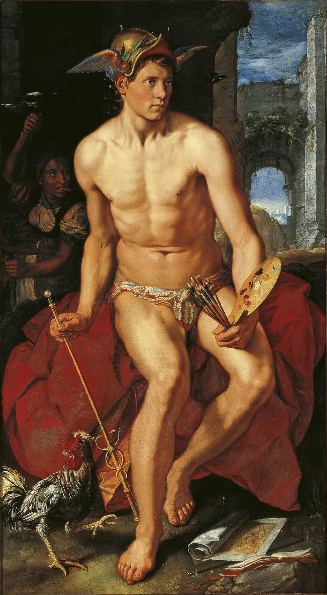 Hendrik Goltzius, Mercury, oil on canvas (1611)