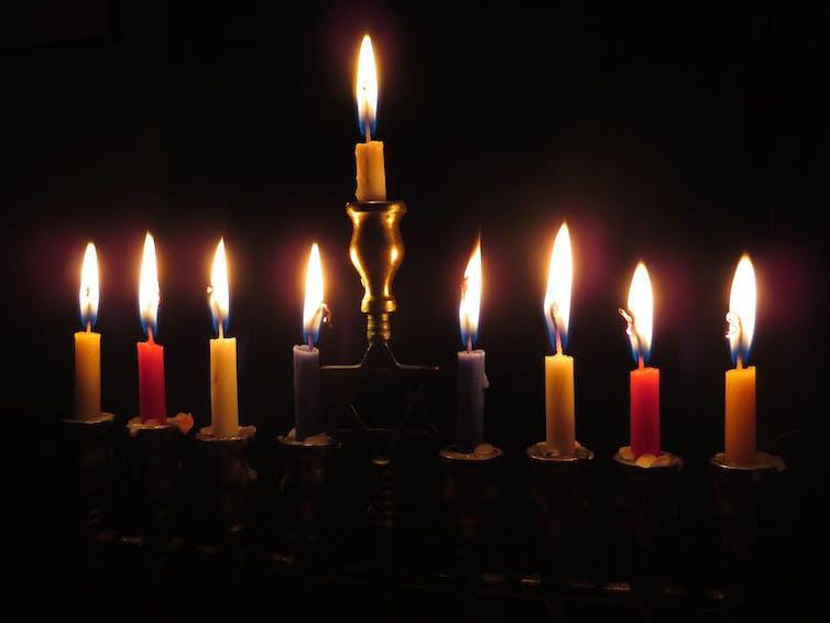 Hanukkah menorah candles holidays Christmas Chanukah