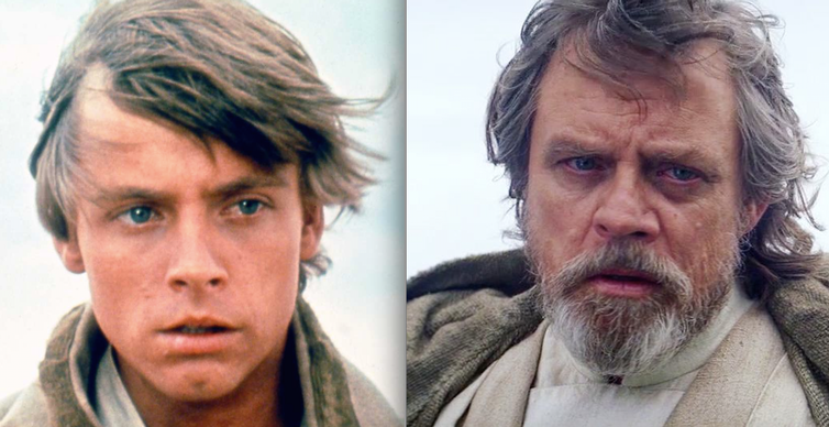 Actor Mark Hammill reemerged in 'The Force Awakens' and 'The Last Jedi.'