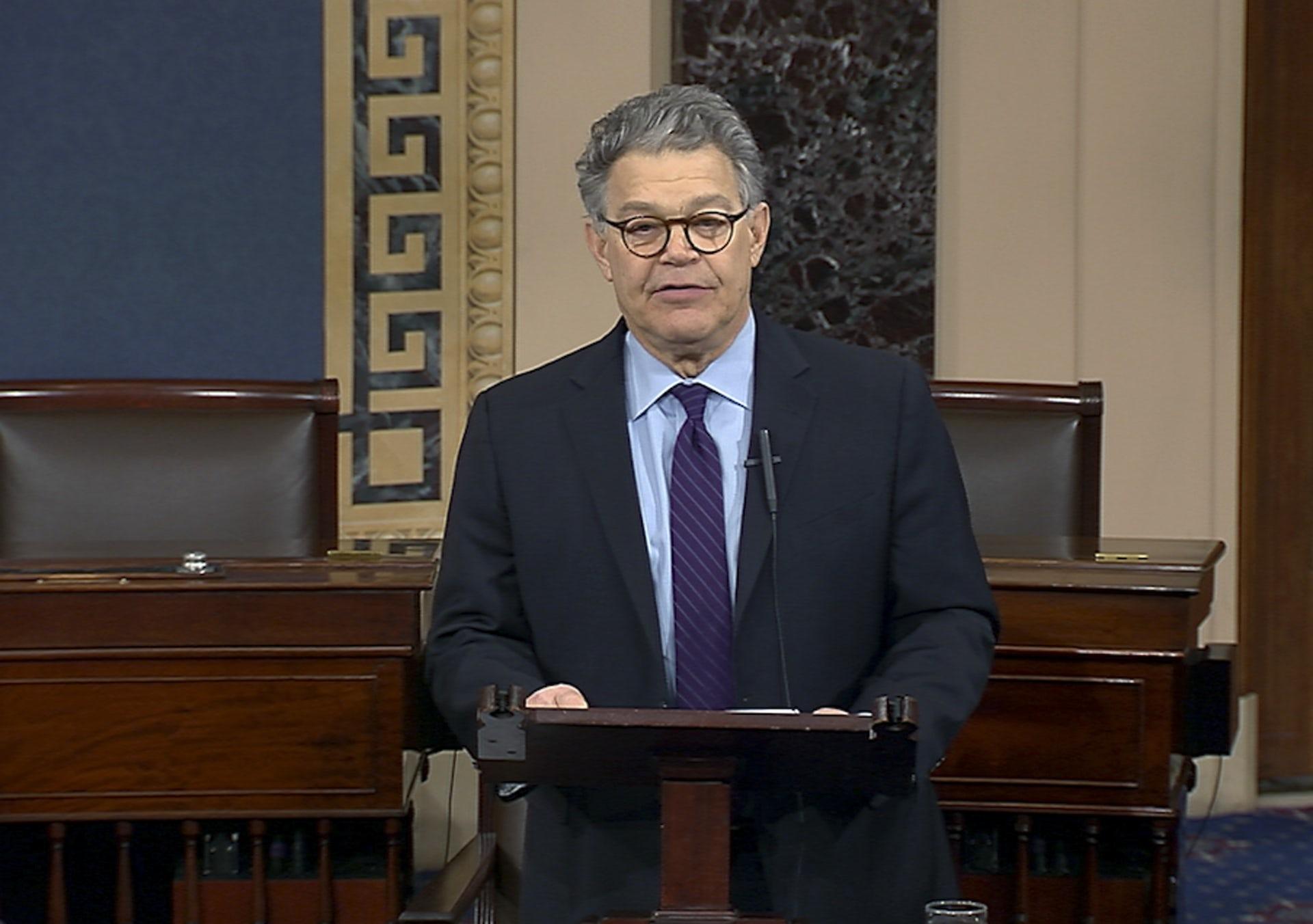 Do the resignations of Senators Al Franken and John Conyers really give Democrats the moral high ground? Senate TV via AP