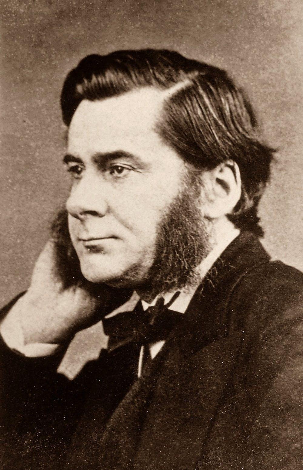 Biologist Thomas Henry Huxley 1825 1895 Wikimedia Carte De Visite Fotografie