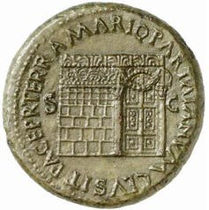 Shrine of Janus as depicted on a coin of the emperor Nero
