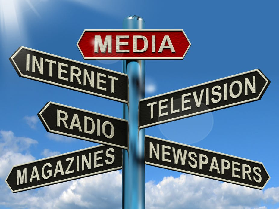 a bunch of forms of media