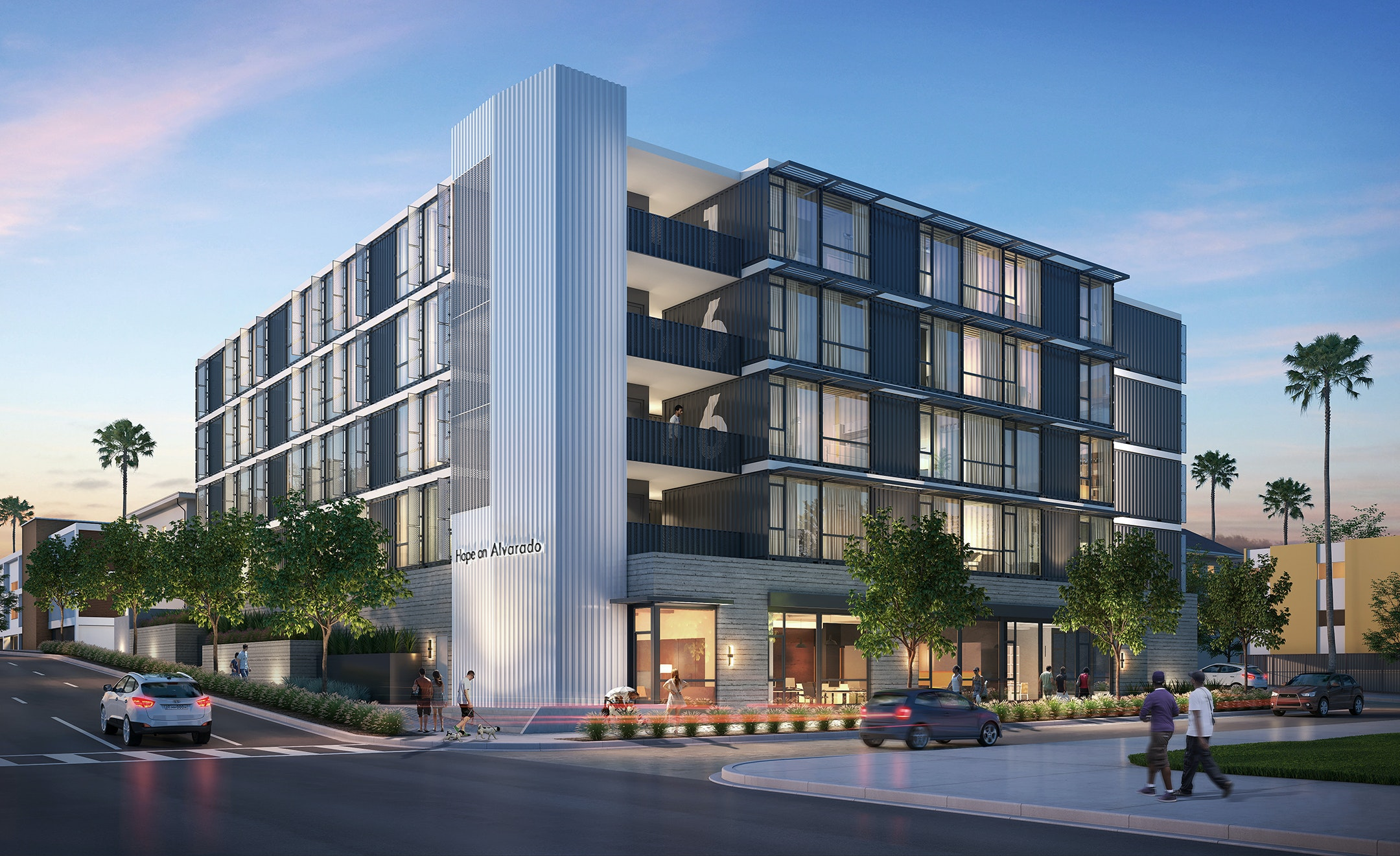 In Los Angeles, The Architecture Firm KTGY Is Repurposing Shipping  Containers To Build A Transitional Apartment Complex For The Homeless. KTGY