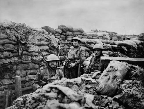 British soldiers on the frontline.