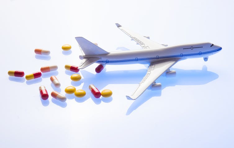 Which medicines don't go well with flying?