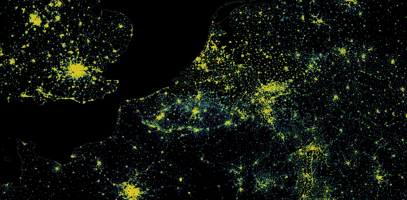 Think your country is crowded? These maps reveal the truth