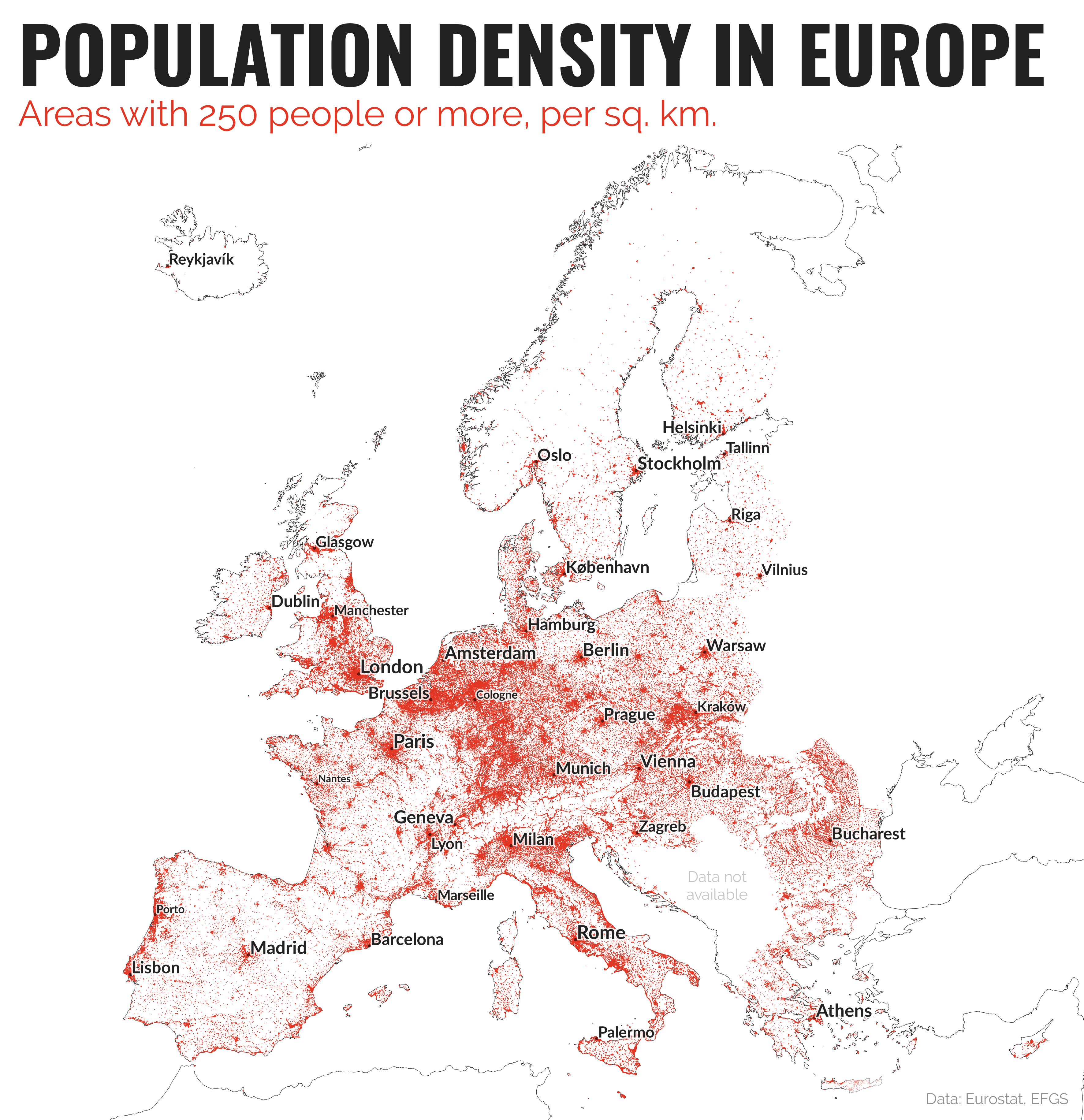 Think your country is crowded These maps reveal the truth about