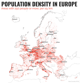 Think your country is crowded? These maps reveal the truth ...