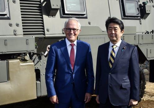 Turnbull's Tokyo visit draws Australia and Japan's defence forces closer