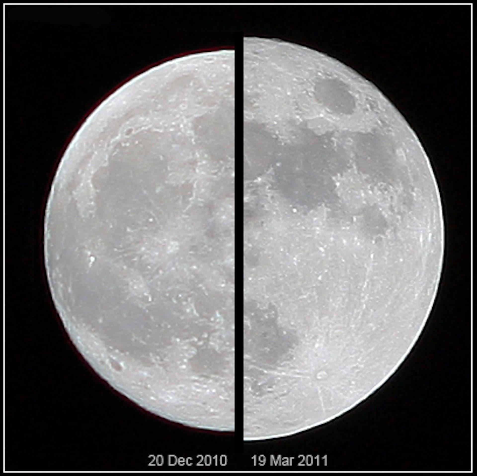 Appearance of an 'average' moon versus a supermoon. Marcoaliaslama, CC BY-SA