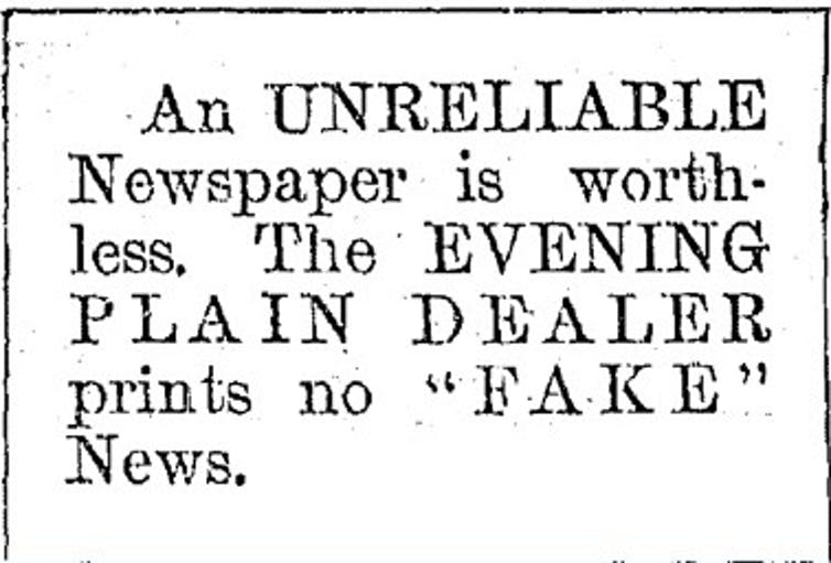 The masthead of Cleveland's Evening Plain Dealer in 1897.