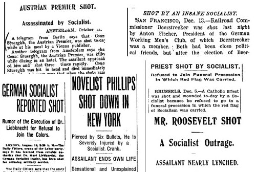 Anti-socialist headlines tended to dominate coverage of crimes, even before details were known.