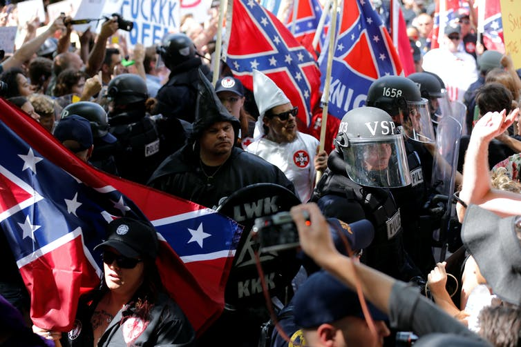 Today's 'alt right' espouses an age-old American social hierarchy and enforces it through violence as needed. Photo credit: Jonathan Ernst/Reuters