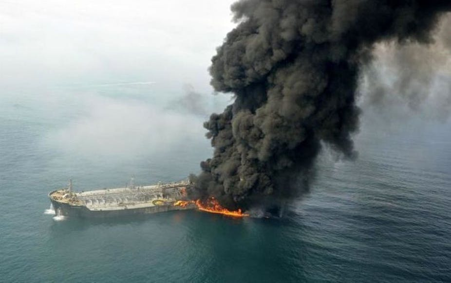 Sanchi oil tanker disaster: how spills and accidents can