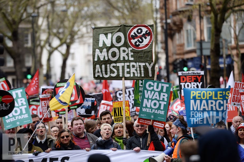 0f0248c7641 Anger at austerity brought people onto the streets in 2016. Stefan  Rousseau/PA Archive