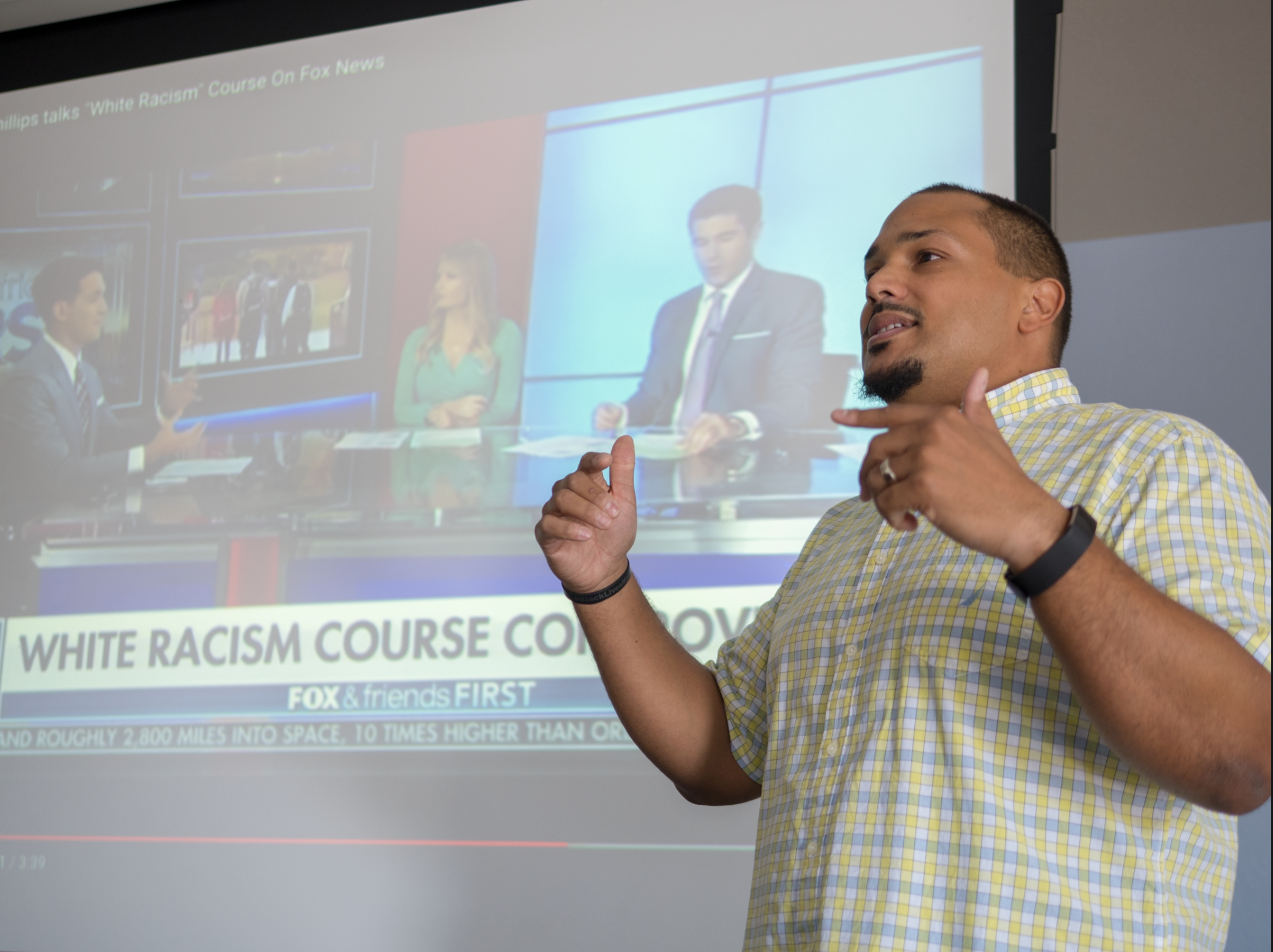 Ted Thornill teaches a class called white racism
