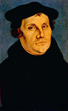 Martin Luther portrait by Lucas Cranach, 1529. Shutterstock/EverettHistorical